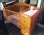 Crib with drawers & changing table